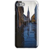 Rainy Street in Buda, Hungary 2001 iPhone Case/Skin