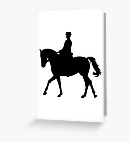 Riding dressage Greeting Card