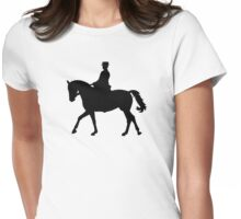 Riding dressage Womens Fitted T-Shirt