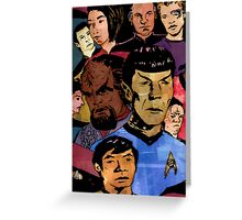 Faces of the Final Frontier Greeting Card