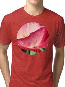 Red Poppy in Sunlight Tri-blend T-Shirt