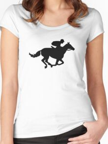 Horse race racing Women's Fitted Scoop T-Shirt