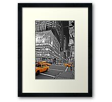 NYC Yellow Cabs Lehman Brothers Framed Print