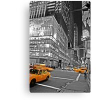 NYC Yellow Cabs Lehman Brothers Canvas Print