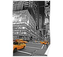 NYC Yellow Cabs Lehman Brothers Poster
