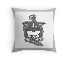 Crazy Kitteh Throw Pillow
