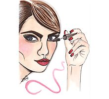 cara delevingne illustration  Photographic Print