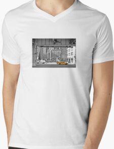 NYC Yellow Cabs Fish Market Mens V-Neck T-Shirt