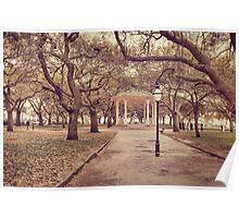 Battery Park in Charleston, SC Poster