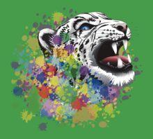 Leopard Psychedelic Paint Splats Kids Clothes
