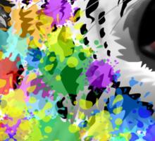 Leopard Psychedelic Paint Splats Sticker