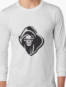 Death hooded evil sunglasses creepy Long Sleeve T-Shirt