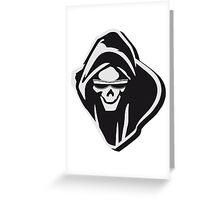 Death hooded evil sunglasses creepy Greeting Card