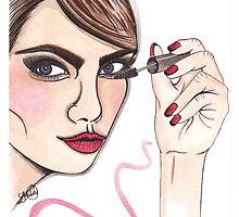 cara delevingne illustration  by lbillustration