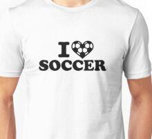 I love soccer heart Unisex T-Shirt