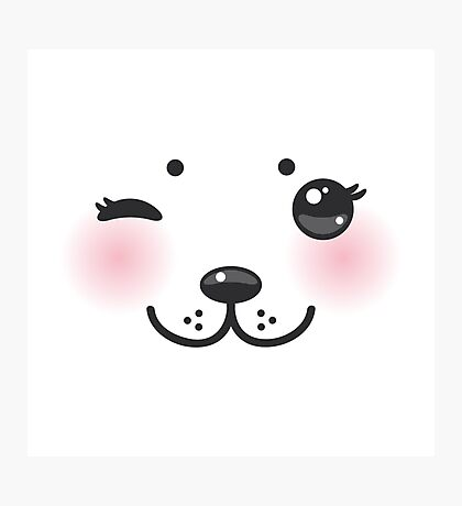 Winking  seal baby Photographic Print