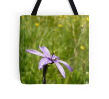 Blue Eyed Grass and Buttercups Tote Bag