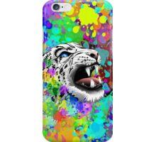 Leopard Psychedelic Paint Splats iPhone Case/Skin
