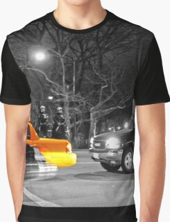 NYC Yellow Cabs Oscar Night Graphic T-Shirt