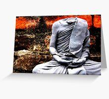 Headless Buddha Greeting Card