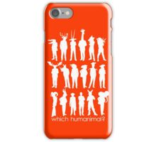 Which humanimal? White iPhone Case/Skin