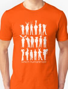 Which humanimal? White Unisex T-Shirt