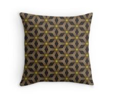 Brown tracery Throw Pillow