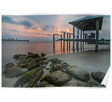 Sunset at the Cut - St. George Island Poster