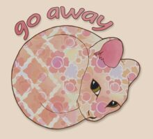 Go Away - Patterned Cat Illustration T-Shirt