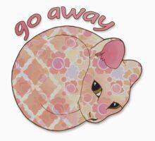 Go Away - Patterned Cat Illustration Kids Clothes