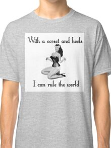 pinup glamour corset Classic T-Shirt