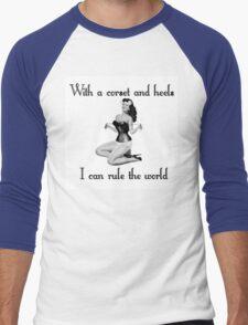 pinup glamour corset Men's Baseball ¾ T-Shirt