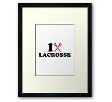 I love Lacrosse Framed Print