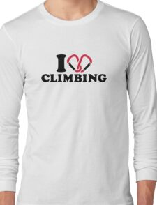 I love Climbing carabiner Long Sleeve T-Shirt