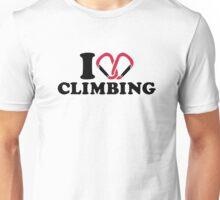 I love Climbing carabiner Unisex T-Shirt