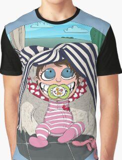 Peek-a-boo Graphic T-Shirt