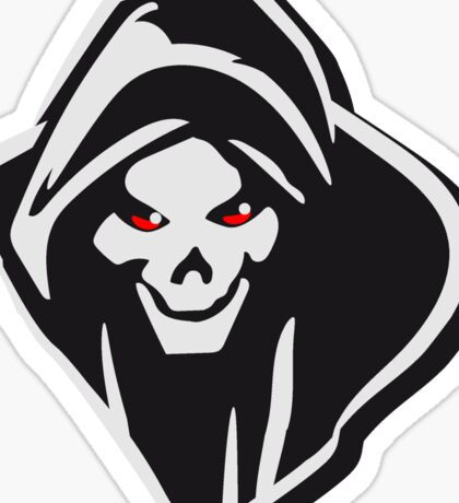 Death hooded evil creepy Sticker