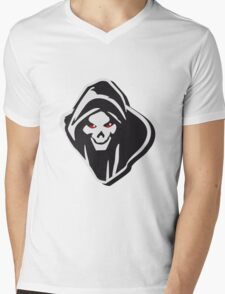 Death hooded evil creepy Mens V-Neck T-Shirt