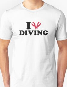 I love Diving flippers T-Shirt