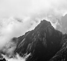 Mystic Mountains, Huangshan Mountain in China by Cherrybom