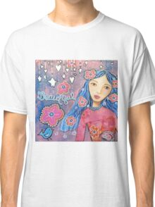Flower Child Mixed Media Classic T-Shirt