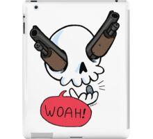 Guns a' Blazin! (skeleton with guns for eyes) iPad Case/Skin