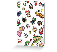 It's a SUPER Mario Pattern. Greeting Card