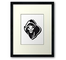 Death hooded evil creepy Framed Print