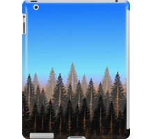 fir forest with blue skies iPad Case/Skin
