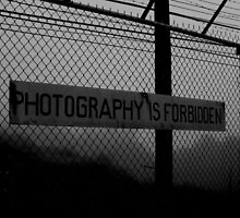 Photography is Forbidden by the WORLD in a  FRAME
