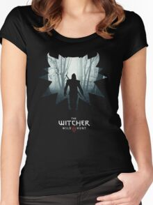 The White Wolf - The Witcher t-shirt / Phone case / Mug 1 Women's Fitted Scoop T-Shirt