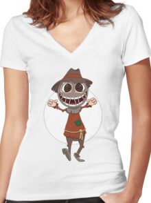 Scarecrow surprises everyone Women's Fitted V-Neck T-Shirt