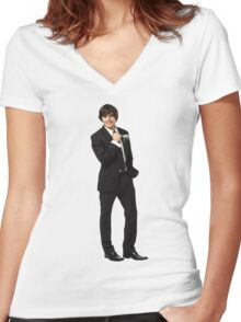 zac efron Women's Fitted V-Neck T-Shirt