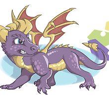 Spyro the Dragon with gems by justaholmesboy